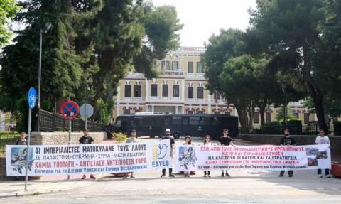 Θεσσαλονίκη: Συγκέντρωση και διαμαρτυρία για την ύφεση και την ειρήνη