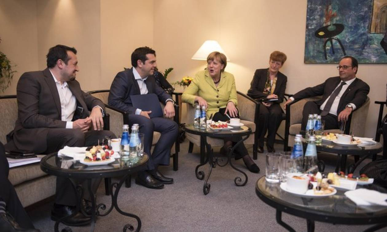 Ολοκληρώθηκε η συνάντηση Τσίπρα με Μέρκελ και Ολάντ
