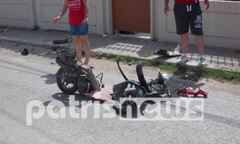 Πάτρα: Σοβαρός τραυματισμός δικυκλιστή σε τροχαίο ατύχημα