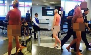 ΗΠΑ: Γυμνή… διαμαρτυρία σε αεροδρόμιο (pics)