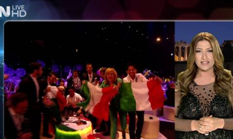 Eurovision 2015: Εντυπωσιακή η Παπαρίζου ανακοίνωσε τη βαθμολογία της Ελλάδας (vid)