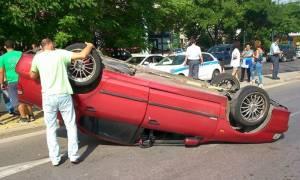 Βόλος: Άγιο είχαν μητέρα και γιος που το αυτοκίνητό τους τούμπαρε