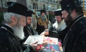 Στη Μητρόπολη Πειραιώς το ιερό σκήνωμα της Αγίας Βαρβάρας (photos)