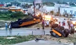 Μεξικό: Φονικός ανεμοστρόβιλος «χτύπησε» κοντά στα σύνορα με ΗΠΑ (videos)