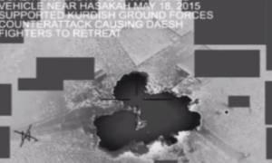 Το Πεντάγωνο έδωσε στη δημοσιότητα βίντεο από τις αεροπορικές επιδρομές στη Συρία