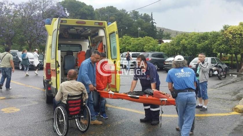 Κεραυνός «χτύπησε» την Κνωσό – Πάνω από 10 τραυματίες (pics)