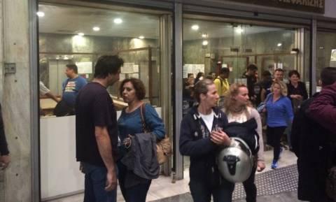 Συγκέντρωση διαμαρτυρίας στο υπουργείο Εργασίας πρώην εργαζομένων στο ξενοδοχείο «Πεντελικόν»