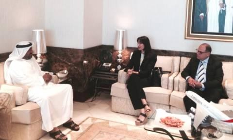 Επίσκεψη της Έλενας Κουντουρά στα Ηνωμένα Αραβικά Εμιράτα