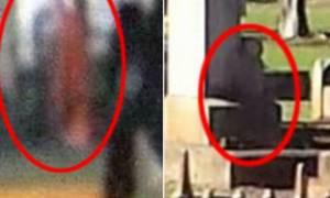 Η γυναίκα με τα κόκκινα, η μπλε ομίχλη και οι σταυροί που αναποδoγυρίζουν! (photos+video)