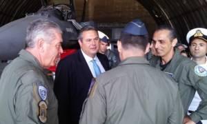 Επίσκεψη Καμμένου σε Μονάδες των Ενόπλων Δυνάμεων στην Κρήτη