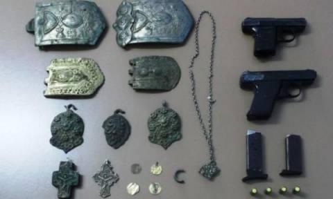 Σύλληψη στη Δράμα για αρχαιοκαπηλία και κατοχή όπλων