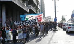 Ολοκληρώθηκε η πορεία διαμαρτυρίας των κάτοικων των Σκουριών - Συναντήθηκαν με Λαφαζάνη