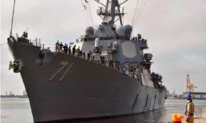 Αντιτορπιλικό των ΗΠΑ στο Αιγαίο (video)