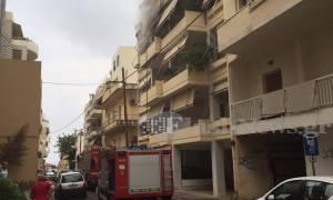 Χανιά: Εφιαλτικές στιγμές για γυναίκα που είδε το σπίτι της να καίγεται (pics)