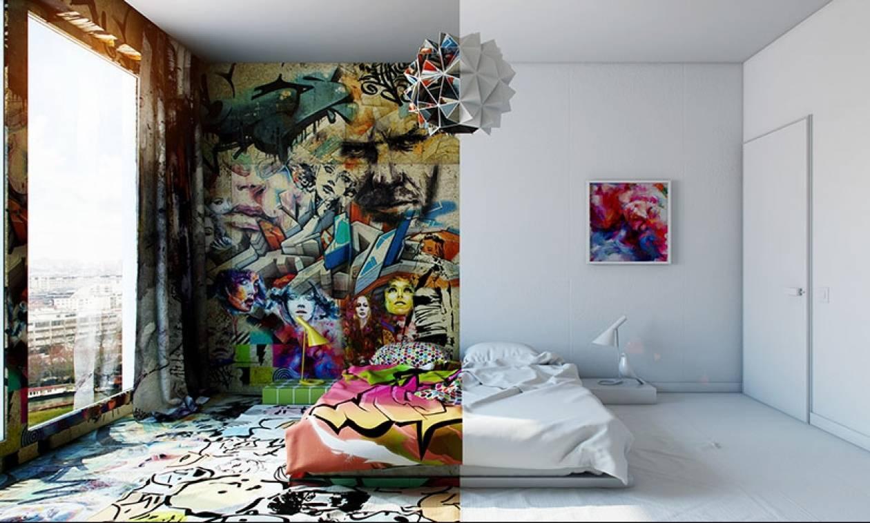 Το δωμάτιο που είναι χωρισμένο στα δύο! (photos)