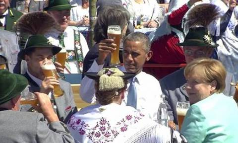 Ομπάμα: Μπύρες, πρέτσελ και αστεϊσμοί λίγο πριν την έναρξη των G7 (video & pics)
