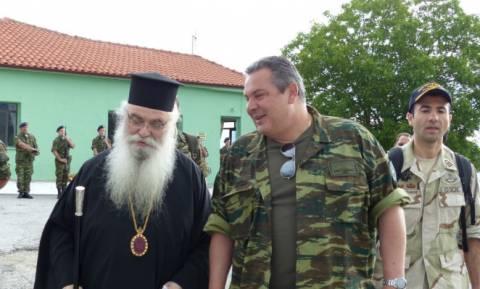 Στα ελληνοαλβανικά σύνορα ο Πάνος Καμμένος (pics+video)