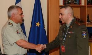 O A/ ΓΕΕΘΑ Μ. Κωσταράκος συναντήθηκε με τον ακόλουθο άμυνας της Αρμενίας