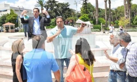 Σοβαρό επεισόδιο με τον Μηταράκη στη Χίο (video)