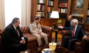 Συνάντηση Παυλόπουλου με τον υπουργό Άμυνας της Αιγύπτου