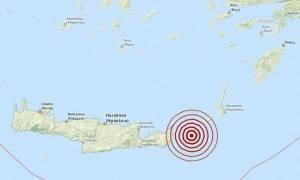 Σεισμός 3,3 Ρίχτερ ανατολικά της Κρήτης