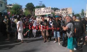 Λέσβος: Αιματηρές συμπλοκές και εξέγερση σε καταυλισμό μεταναστών