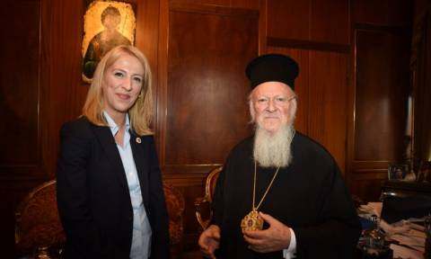 Συνάντηση με τον Οικουμενικό Πατριάρχη είχε η Ρένα Δούρου