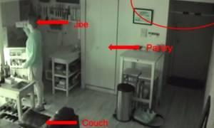 Άκουγε θορύβους στην κουζίνα κι όταν έβαλε κάμερα τρόμαξε πραγματικά (video)