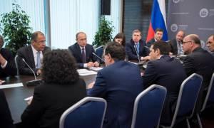Συνάντηση Τσίπρα – Πούτιν: Κοινός στόχος η ανάπτυξη (photos)
