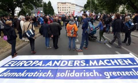 Γερμανία: Διαδήλωση κατά της λιτότητας στην Ελλάδα με... ελληνική εκπροσώπηση