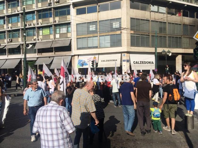 Πορεία ΠΑΜΕ στο Σύνταγμα - Συγκέντρωση συνταξιούχων στα Προπύλαια (photos)