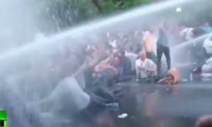 Επεισόδια κατά τη διάρκεια διαδήλωσης στην Αρμενία (video)