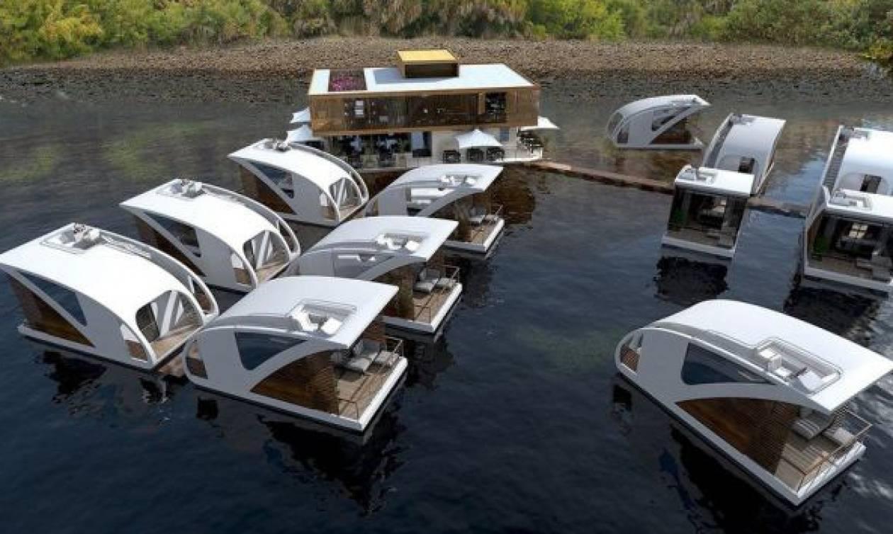 Αυτό το ξενοδοχείο διαθέτει βίλες στο ποτάμι - Μέσα στο ποτάμι! (photos)