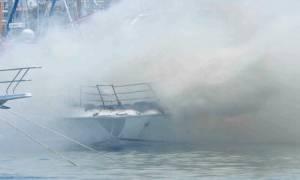 Λέρος: Φωτιά σε σκάφος