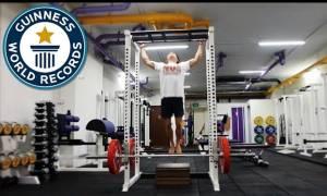 Ο άνθρωπος που έκανε 44 pull-ups σε 60 δευτερόλεπτα (video)