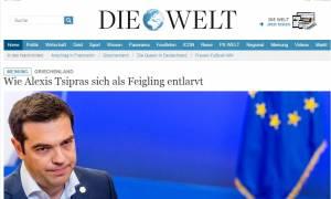 Γερμανικός Τύπος: Ο Έλληνας πρωθυπουργός φτάνει σε ένα νέο κατώτερο σημείο της κλίμακας Τσίπρα