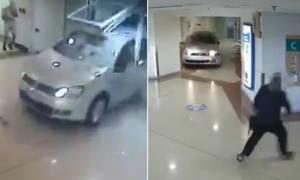 Πανικός στο εμπορικό: 87χρονη πήγε για ψώνια με το αυτοκίνητό της! (video)