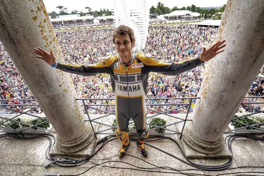 O Valentino Rossi γνώρισε την αποθέωση στο Goodwood