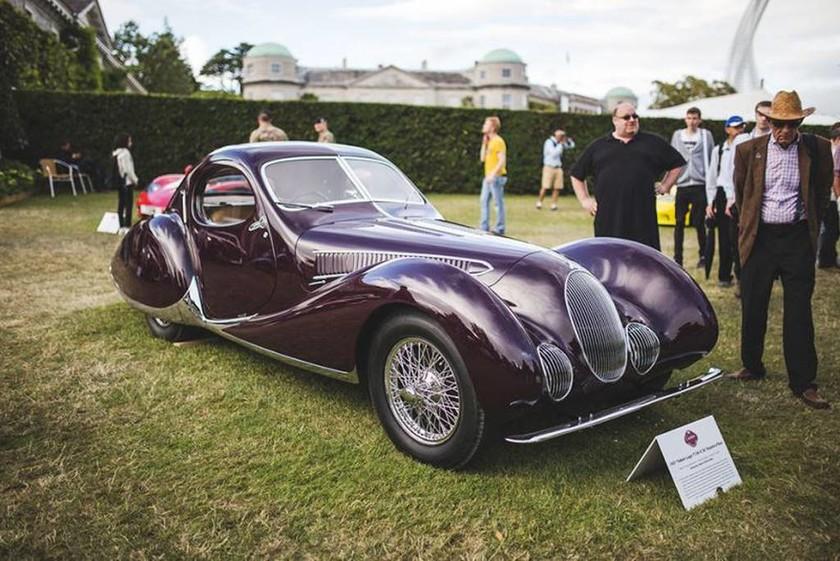 H Talbot-Lago T150-C-S Goutte d'Eau του 1937 (μία από τις 5 που υπάρχουν ακόμη σε όλο τον κόσμο) ήταν η νικήτρια του Cartier Style et Luxe concours d'elegance