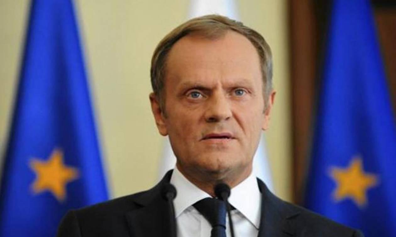 Τουσκ: «Όχι» στην παράταση που ζητά η Ελλάδα