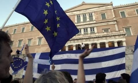 Συγκέντρωση «Μένουμε Ευρώπη» στο Σύνταγμα