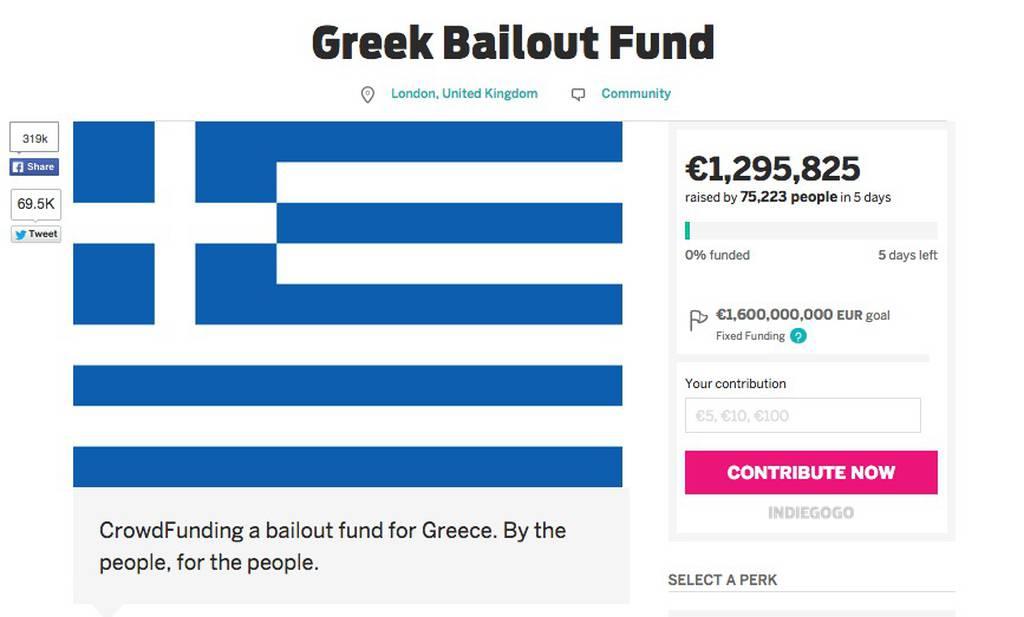 Δημοψήφισμα 2015: 1,3 εκατ. ευρώ συγκέντρωσε ο Βρετανός υπέρ της Ελλάδας