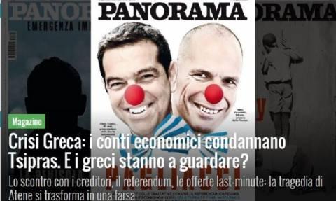 Δημοψήφισμα 2015: Προσβλητικό εξώφυλλο ιταλικού περιοδικού για Τσίπρα και Βαρουφάκη