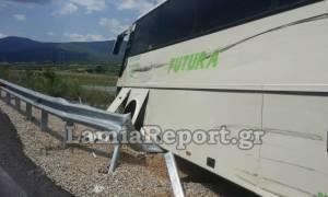 Φθιώτιδα: Λεωφορείο του ΚΤΕΛ συγκρούστηκε με νταλίκα (photos)