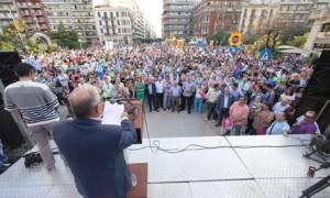 Δημοψήφισμα 2015: Συγκέντρωση του «Μένουμε Ευρώπη» στο Καλλιμάρμαρο