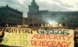 Δημοψήφισμα: Κινητοποιήσεις αλληλεγγύης υπέρ του «Όχι» στην Ιταλία