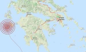 Σεισμός 4,1 Ρίχτερ κοντά στη Ζάκυνθο