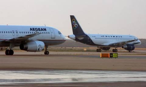 Χωρίς τέλος εξυπηρέτησης τα εισιτήρια Aegean-Olympic Air για τους Έλληνες επιβάτες