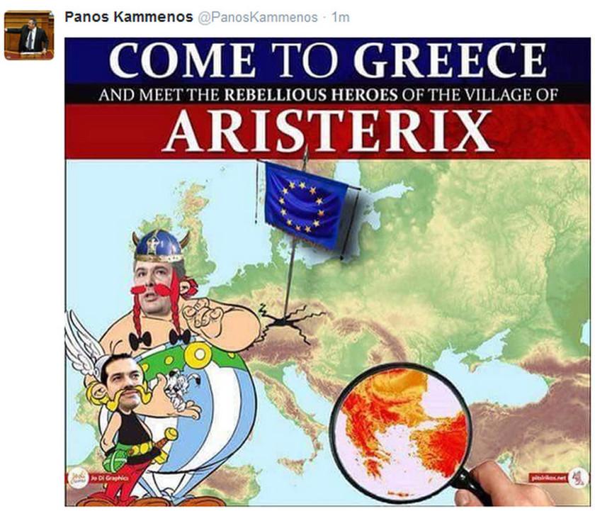 Aristerix! Το χιουμοριστικό tweet του Πάνου Καμμένου (photo)