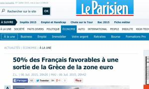 Eurogroup και Σύνοδος Κορυφής: Δημοσκόπηση Le Parisien - To 50% των Γάλλων θέλουν Grexit